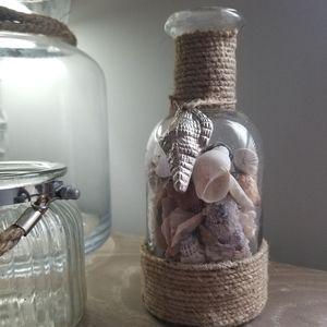 Nautical Vase with Shells